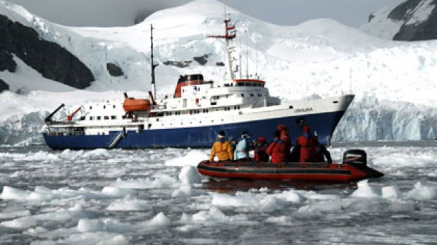 A file picture of the cruise ship Ushuaia in Antarctica.