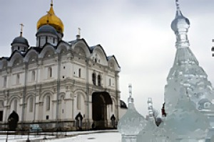 City of music . . . Moscow's Cathedral of the Archange.
