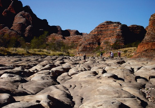 Bungle Bungles, Western Australia - Towering sandstone domes that have been infiltrated by black algae, giving them ...