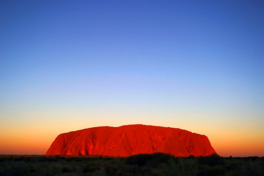 Uluru, Northern Territory - the world's largest monolith.