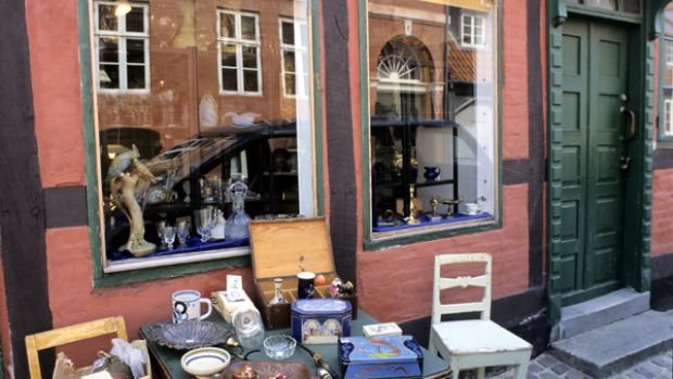 Danish delights ... Helsingor has many little shops that intrigue.