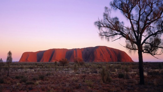 Outback icon ... Uluru at sunrise.