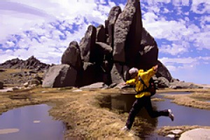 Glorious granite . . . rock formations highlight the rugged beauty of Kosciuszko National Park.