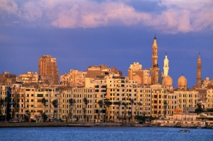 A nice little place ... once 16 small villages, Alexandria is now home to 6 million people.