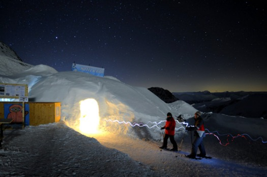 Perched high above the five-star hotels and heated debate amongst global leaders in the Swiss resort of Davos, an igloo ...