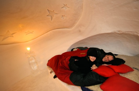 Iglu-Dorf is built out of packed snow, but the network of 15 igloos linked by tunnels looks more like a cross between ...