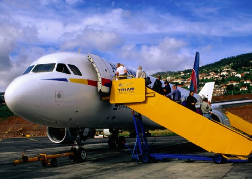 Madeira Airport, Funchal, Madeira. Wedged in by mountains and the Atlantic, Madeira Airport requires a clockwise ...