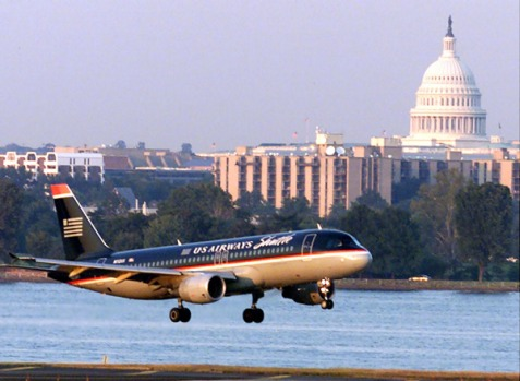 Reagan National Airport, Washington, DC. Located smack in the center of two overlapping air-exclusion zones, Reagan ...