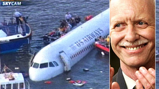 Pilot Chesley 'Sully' Sullenberger (inset) has retired from flying. He was made famous by the 'Miracle on the Hudson' crash.