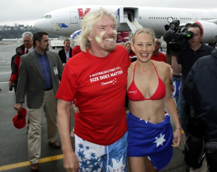 V Australia general manager Brett Godfrey said his airline was offering $A1,100 all inclusive return fares for ...
