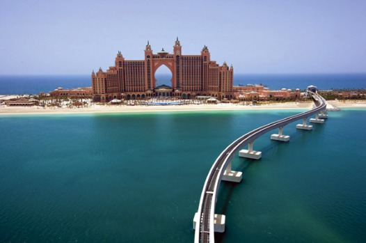 Atlantis The Palm, Dubai's latest and possibly greatest luxury hotel, water is an ornament and a plaything.