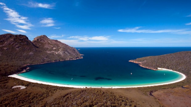 All natural ... the spectacular vista of Wineglass Bay.
