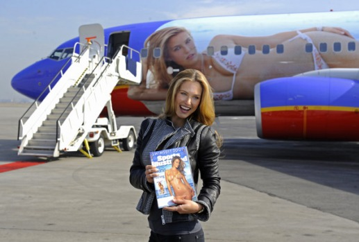 Southwest has put the image of Israeli model Bar Refaeli on its Boeing 737-700 as part of a publicity stunt for the 2009 ...