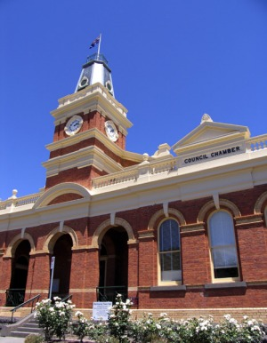 Old style ... the Buninyong town hall.