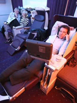 Business class provides enough room for 40 lie-flat seats.