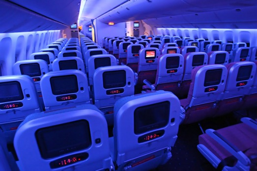 While the 288 economy seats have less room than premium economy, at 18.8 inches wide they are the widest economy seats ...
