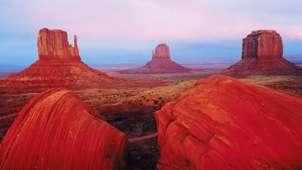 That'll be the day ... views to the East and West Mittens in Monument Valley on the Utah-Arizona border.