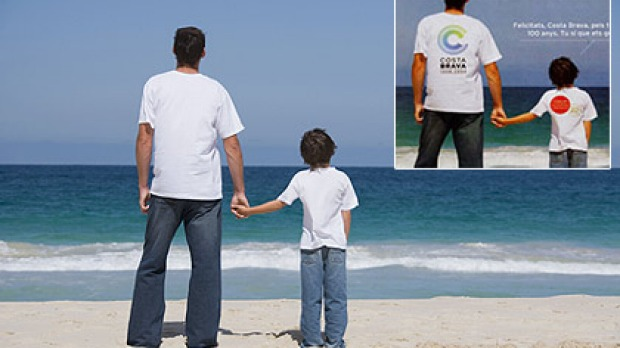 Costa Pertha? The original photo of Perth's City Beach and, inset, how it was used to promote Costa Brava in Spain.