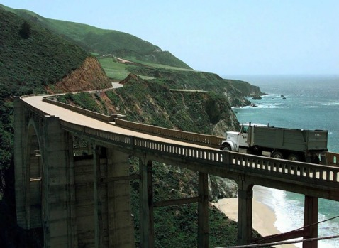Big Sur, California. This section of coastal Highway One, running about 150 kilometres south of Carmel, may be almost a ...