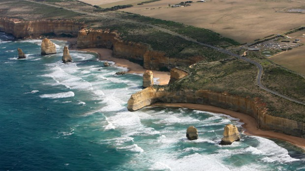 Great Ocean Road, Victoria. The Great Ocean Road loops and swoops along the south coast of Victoria like some grand symphony. It starts at Torquay, south-west of Melbourne, and can end wherever you like.