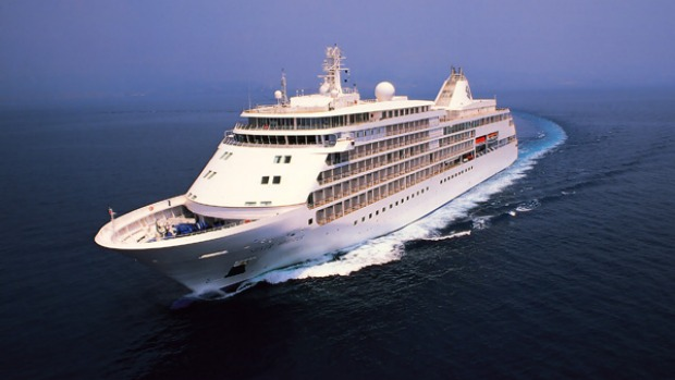 Personal touch ... the Silver Whisper at sea.