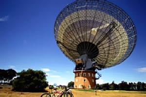 Full of history ... the radio telescope at Parkes.
