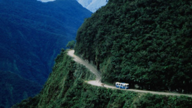 The Unduavi-Yolosa Highway, known as the world's most dangerous road.