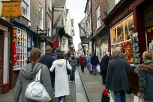 Bargain hunting ... shopping in York.