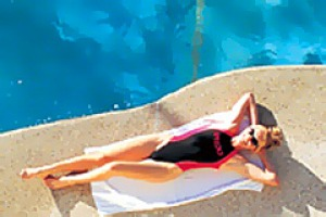 Poolside pleasures ... you can relax at the Oaks Boathouse in the water or chill out on the balcony of your apartment.