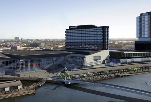 The Hilton Melbourne South Wharf, set to open on April 20. Situated between Docklands and Southbank, the hotel could ...