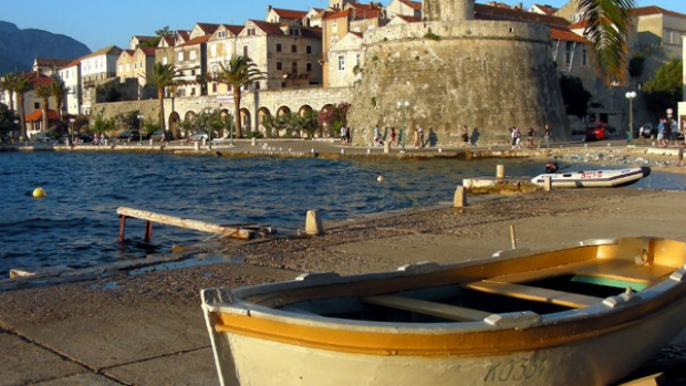 Balkan beauty ... the harbour at Korcula from which Marco Polo may once have sailed.
