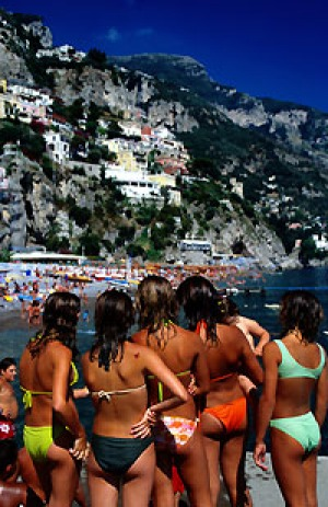 Aussie favourite ... travelling the Amalfi Coast from Positano (pictured) to Ravello.