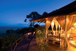 Luxury expedition ... the guest area at Kichwa Tembo camp.
