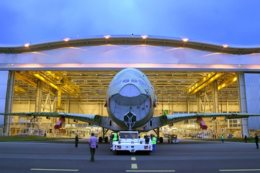 The tour will allow you to see the new final assembly line built especially for the largest aeroplane in the world, the A380.