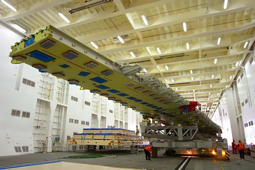 Testing on an A380 superjumbo wing.