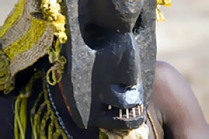 Village people ... a Dogon mask dancer.