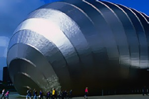 Scrubbed up ... the Glasgow Science Centre.