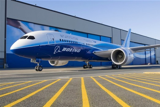 The Boeing 787 Dreamliner boasts several revolutionary design features, most notably the use of high-tech plastic ...
