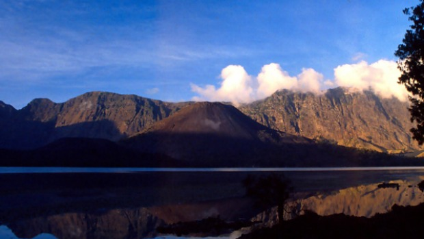 Spiritual journey ... looking out to Rinjani.