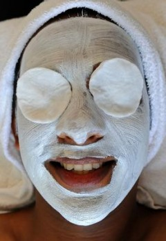The 'Best Job In The World' finalist Anjaan RJ of India gets a facial at the resort's spa on Daydream Island in the ...