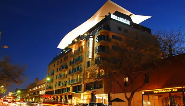 Australia's highest ranked hotel, at number 24, Adelaide's Majestic Roof Garden Hotel.