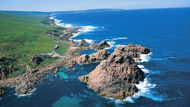 Wild west ... aerial view over Sugarloaf Rock.
