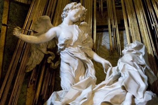 Giovanni Lorenzo Bernini's sculpture the Ecstasy of St Theresa