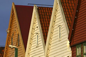 Bergen's traditional wood housing.