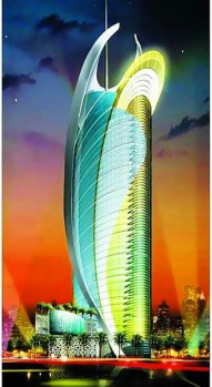 Abu Dhabi. The over-the-top Grand Corniche Hotel is estimated to cost $US300 million with its sleek glass-dhow design.