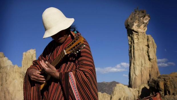 Music to the ears ... travel through Bolivia can be done on a very tight budget.