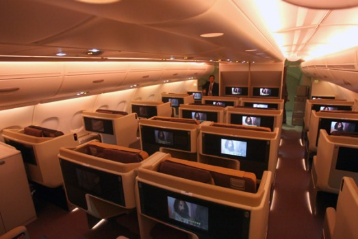 Setting the standard ... Singapore's A380 business class.