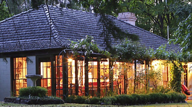 Cool but cosy ... Riverhouse's warm glow is inviting in the cooler months.