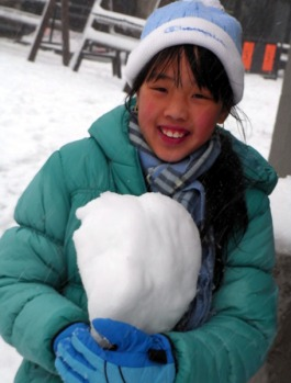 Beware ... a giant snowball at Mount Buller.