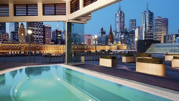 The real thing ... the pool in Chuan Spa at Langham Hotel.